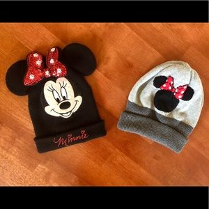 2 MINNIE MOUSE BEANIES